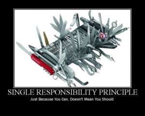 single reponsibility principle